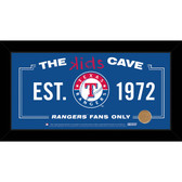 Texas Rangers 10x20 Kids Cave Sign with Game Used Dirt from Rangers Ballpark in Arlington