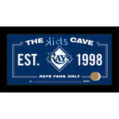 Tampa Bay Rays 10x20 Kids Cave Sign with Game Used Dirt from Tropicana Field