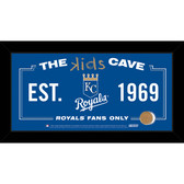 Kansas City Royals 10x20 Kids Cave Sign with Game Used Dirt from Kauffman Stadium