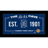 Detroit Tigers 10x20 Kids Cave Sign with Game Used Dirt from Comerica Park