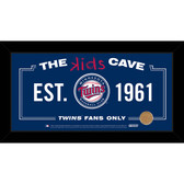 Minnesota Twins 10x20 Kids Cave Sign with Game Used Dirt from Target Field