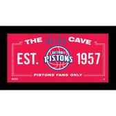 Detroit Pistons 10x20 Kids Cave Sign