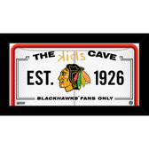 Chicago Blackhawks 10x20 Kids Cave Sign