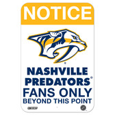 Nashville Predators Fans Only 8x12 Aluminum Sign