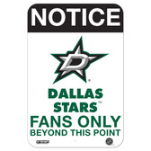 Dallas Stars Fans Only 8x12 Aluminum Sign