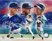 A.L. Big 3 Shortstops Alex Rodriguez Nomar Garciaparra Derek Jeter 8x10 Photo