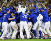 The Toronto Blue Jays celebrate winning Game 5 of the 2015 American League Division Series 16x20 Stretched Canvas