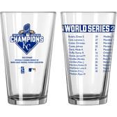 2015 Kansas City Royals World Series Champions Roster Pint Glass