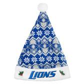 Detroit Lions 2015 Knit Santa Hat