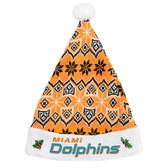 Miami Dolphins 2015 Knit Santa Hat