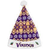 Minnesota Vikings 2015 Knit Santa Hat