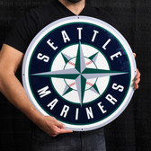 "Seattle Mariners 21"" Lasercut Steel Logo Sign"