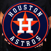 "Houston Astros 21"" Lasercut Steel Logo Sign"