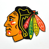 "Chicago Blackhawks 12"" Lasercut Steel Logo Sign"