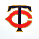 "Minnesota Twins 12"" TC Lasercut Steel Logo Sign"