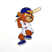 "Chicago Cubs 12"" Clark Mascot Batting Steel Logo Sign"
