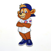 "Chicago Cubs 12"" Clark Mascot Standing Steel Logo Sign"
