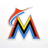 "Miami Marlins 12"" Lasercut Steel Logo Sign"