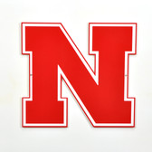 "Nebraska Cornhuskers 12"" Block N Lasercut Steel Logo Sign"