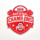 "Ohio State Buckeyes 2014 Champs 12"" Lasercut Steel Logo Sign"