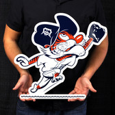 "Detroit Tigers 20"" Vintage Outfield Kitty Lasercut Steel Logo Sign"