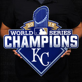 "Kansas City Royals 20"" 2015 World Series Champions Lasercut Steel Logo Sign"