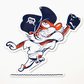 "Detroit Tigers 12"" Vintage Outfield Kitty Lasercut Steel Logo Sign"