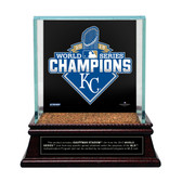 2015 World Series Champions Baseball Case With Kauffman Stadium Dirt