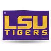 """LSU Tigers """"BLOCK LETTERS"""" PURPLE BACK 3 X 5"""
