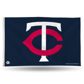 Minnesota Twins 'TC' LOGO Banner Flag