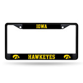 Iowa Hawkeyes  Black Chrome Frame