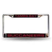 Tampa Bay Buccaneers Black Laser Chrome Frame