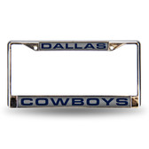 Dallas Cowboys Silver Laser Chrome Frame