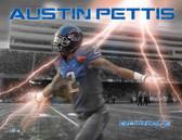 Boise State Broncos Austin Pettis Electric Blue Poster