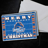 Boise State Broncos Blue Christmas  Card 5 Pack