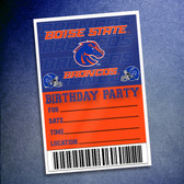 Boise State Broncos Birthday Party II 10 Pack Invitations