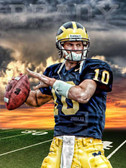 Michigan Wolverines Tom Brady Sunset Poster
