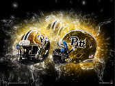 Pitt Panthers Helmet Art Poster