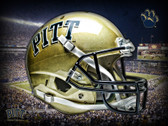 Pitt Panthers Head Gear Poster