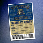 Pitt Panthers Birthday Party 10 Pack Invitations