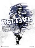 Believe Russell Wilson Poster