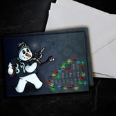 Amari Coper Snowman Christmas Card 5 Pack