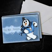 Marcus Mariota Snowman Christmas Card 5 Pack