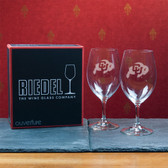 Colorado Buffaloes  Set of 2 Riedel 18 OZ Red Wine Glasses