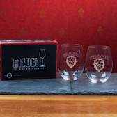 Columbia University   Set of 2 Riedel 21 OZ Stemless Red Wine Glasses