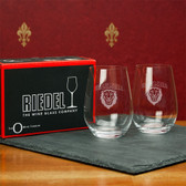 Columbia University   Set of 2 Riedel 13 OZ Stemless Red Wine Glasses
