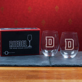 Dartmouth College  Set of 2 Riedel 21 OZ Stemless Red Wine Glasses
