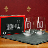 Dartmouth College  Set of 2 Riedel 13 OZ Stemless Red Wine Glasses