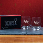 Kentucky  Wildcats  Set of 2 Riedel 21 OZ Stemless Red Wine Glasses