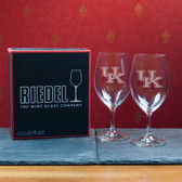 Kentucky  Wildcats  Set of 2 Riedel 18 OZ Red Wine Glasses